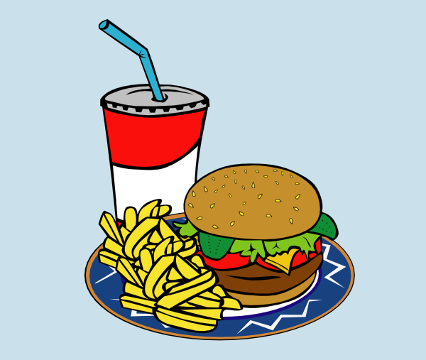 600x507 Fries Burger Soda Fast Food Clipart