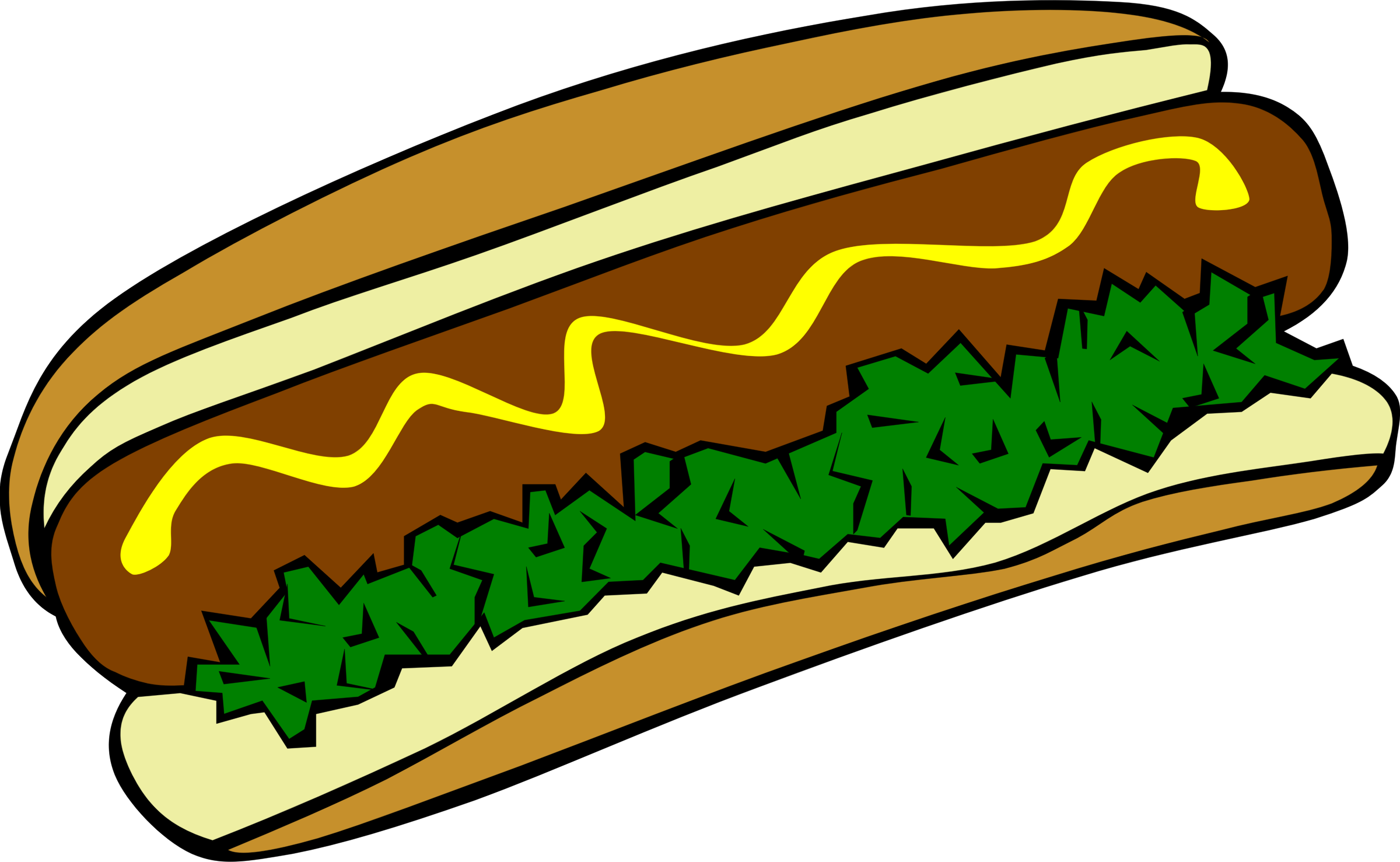 2400x1477 Hot Dog Clipart Fast Food