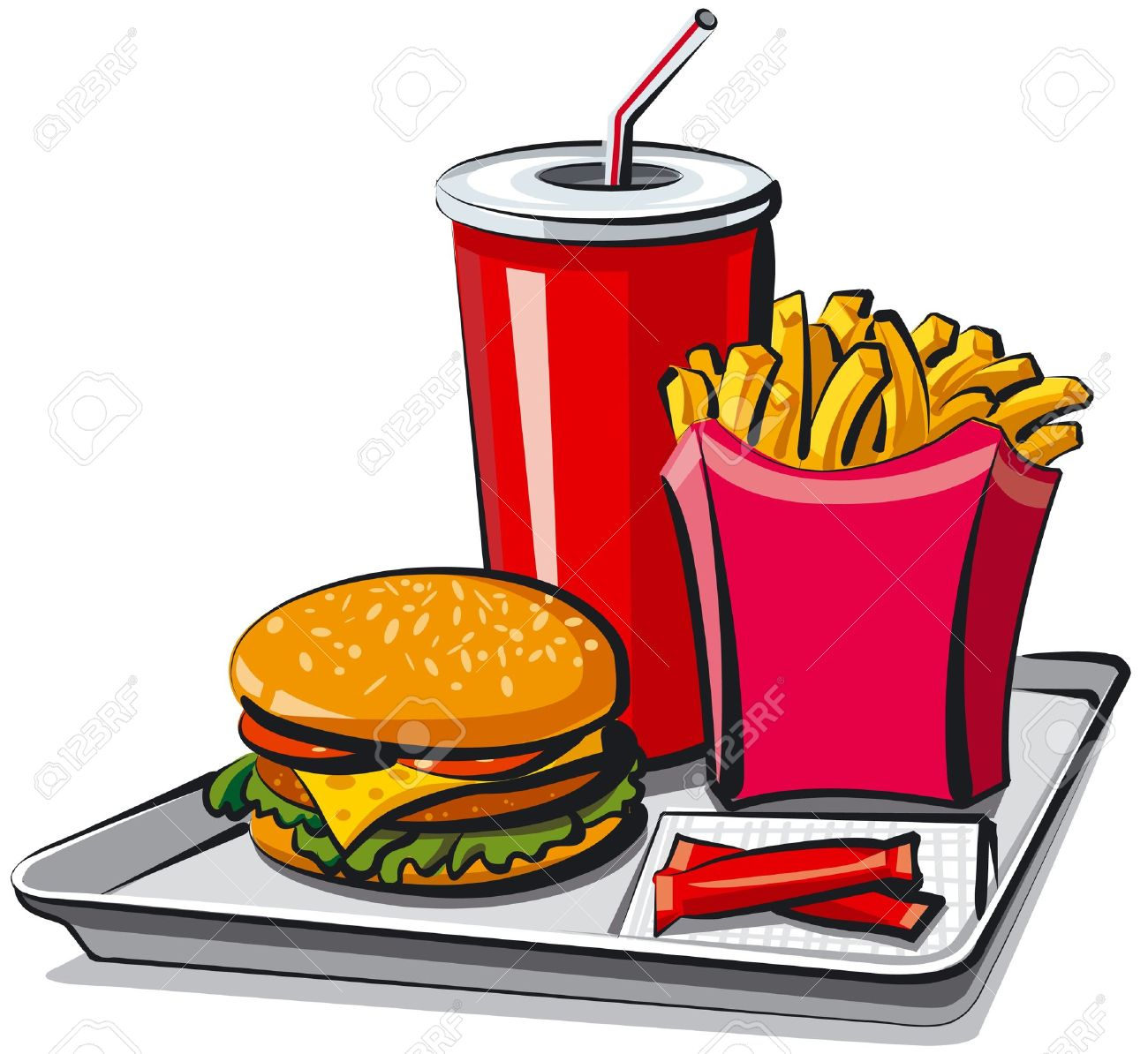 1300x1194 Meal Clipart Fast Food