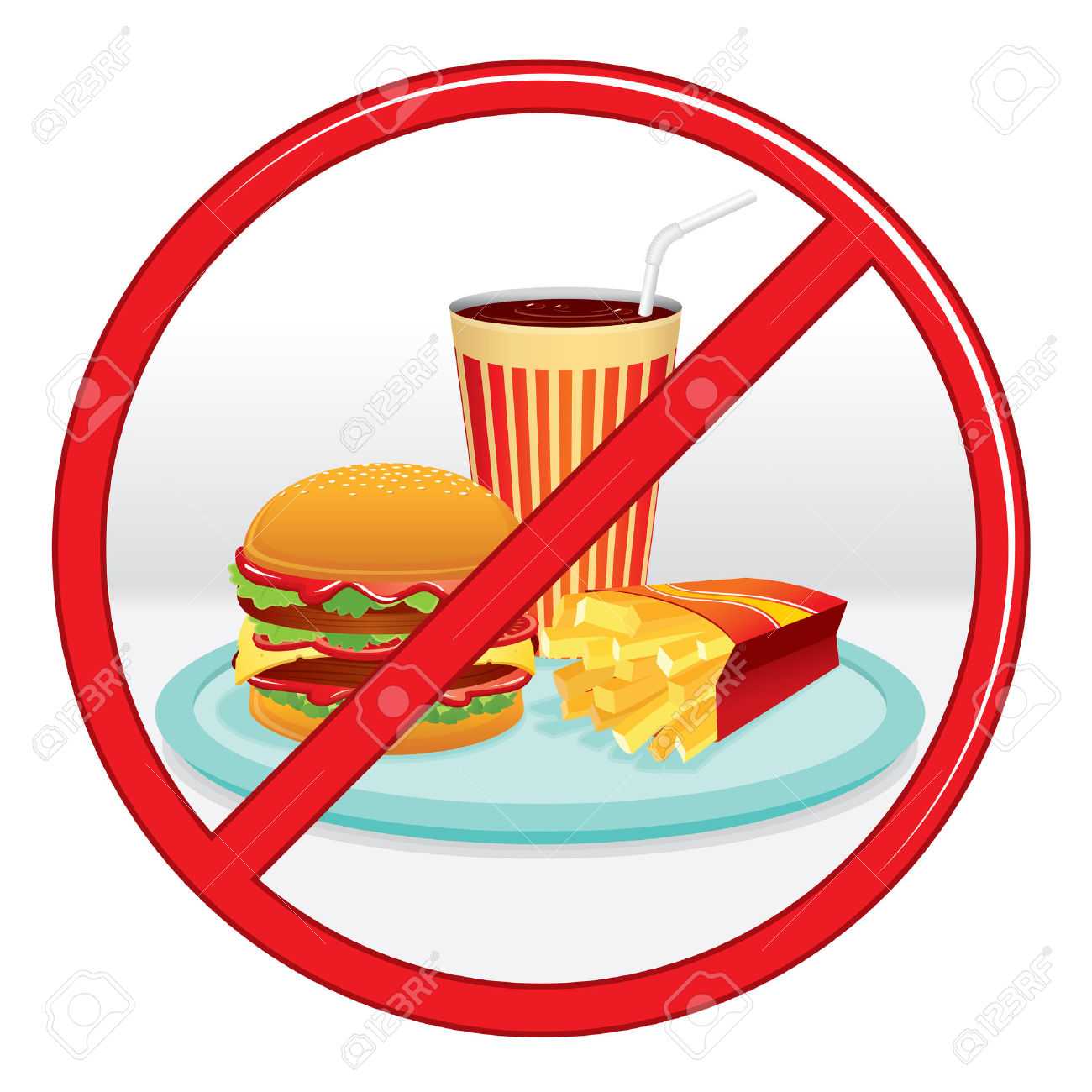 1300x1300 No Fast Food Clipart