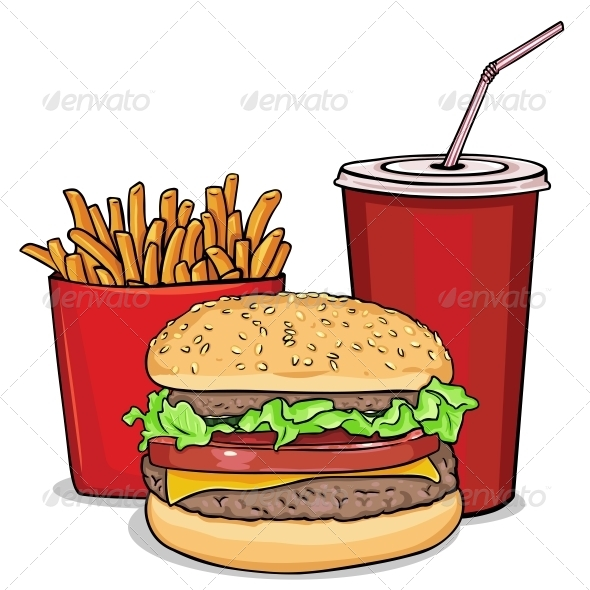 590x590 Burger Clipart Junk Food