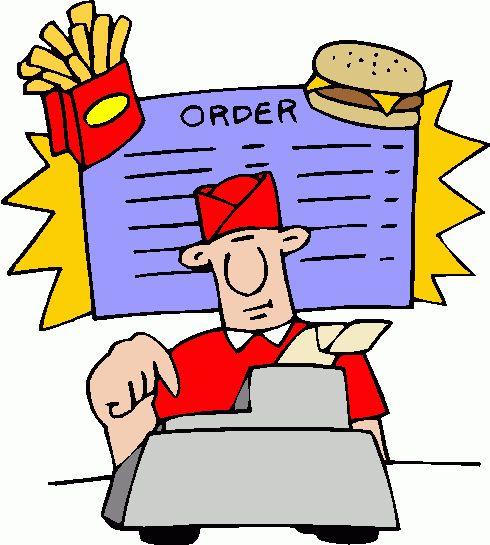 490x545 Fast Food Restaurant Clipart