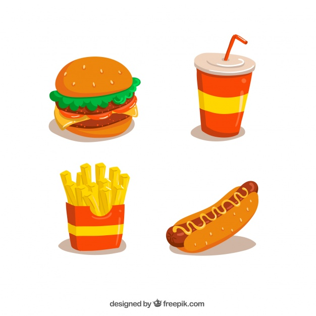 626x626 Fast Food Designs Collection Vector Free Download