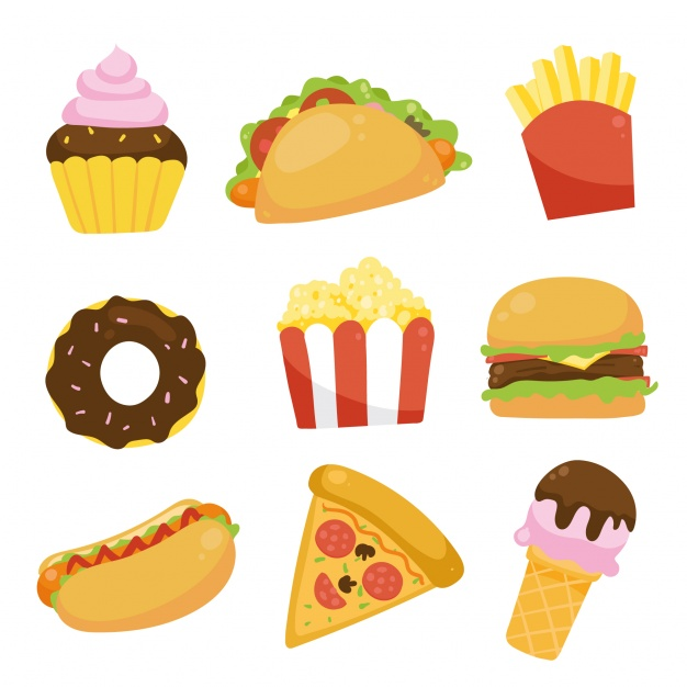 626x626 Fast Food Icons Collection Vector Free Download