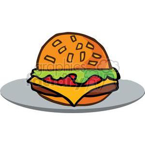 300x300 Royalty Free Fast Food Hamburger 379242 Vector Clip Art Image