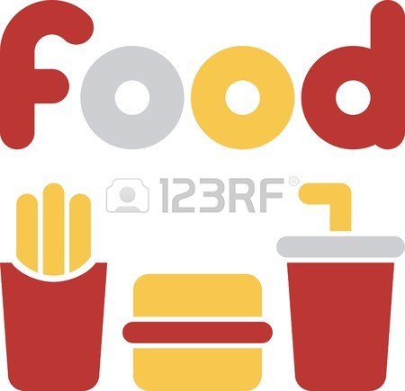 450x435 Simple Illustration With Fast Food Royalty Free Cliparts, Vectors