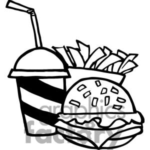 300x300 Black And White Fast Food Free Clipart