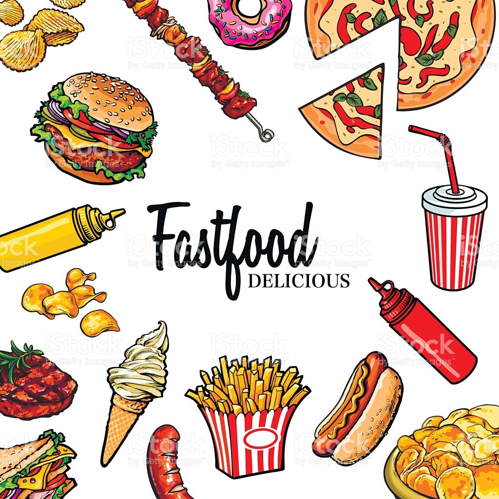 1024x1024 Drawn Food Fast Food