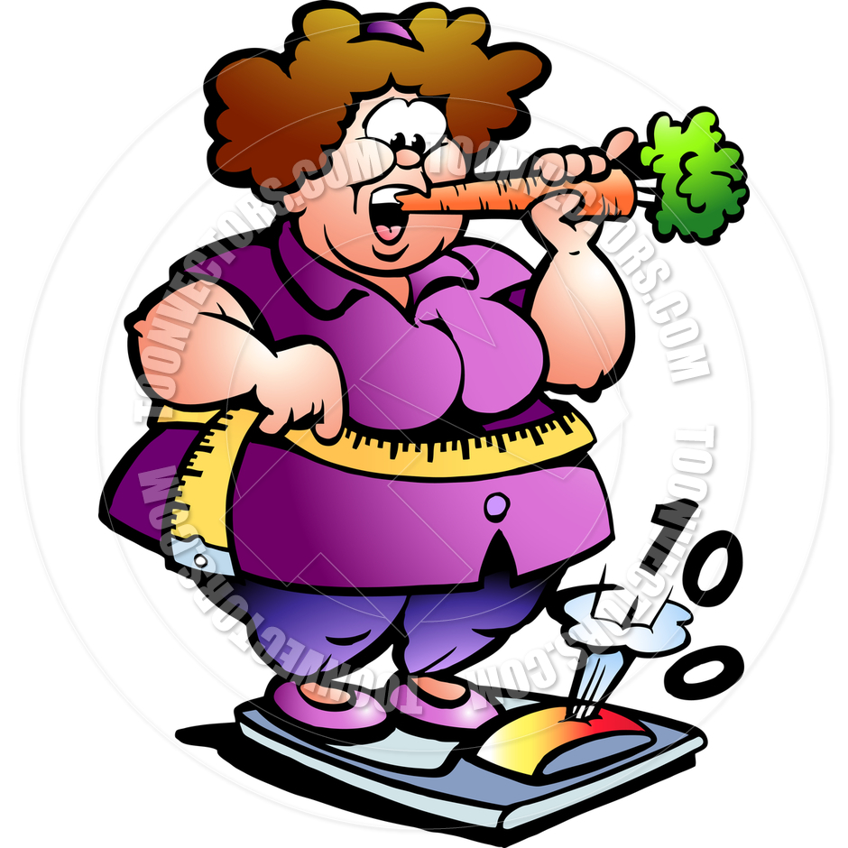 940x940 Cartoon Fat Lady On Scale By Poul Carlsen Toon Vectors Eps