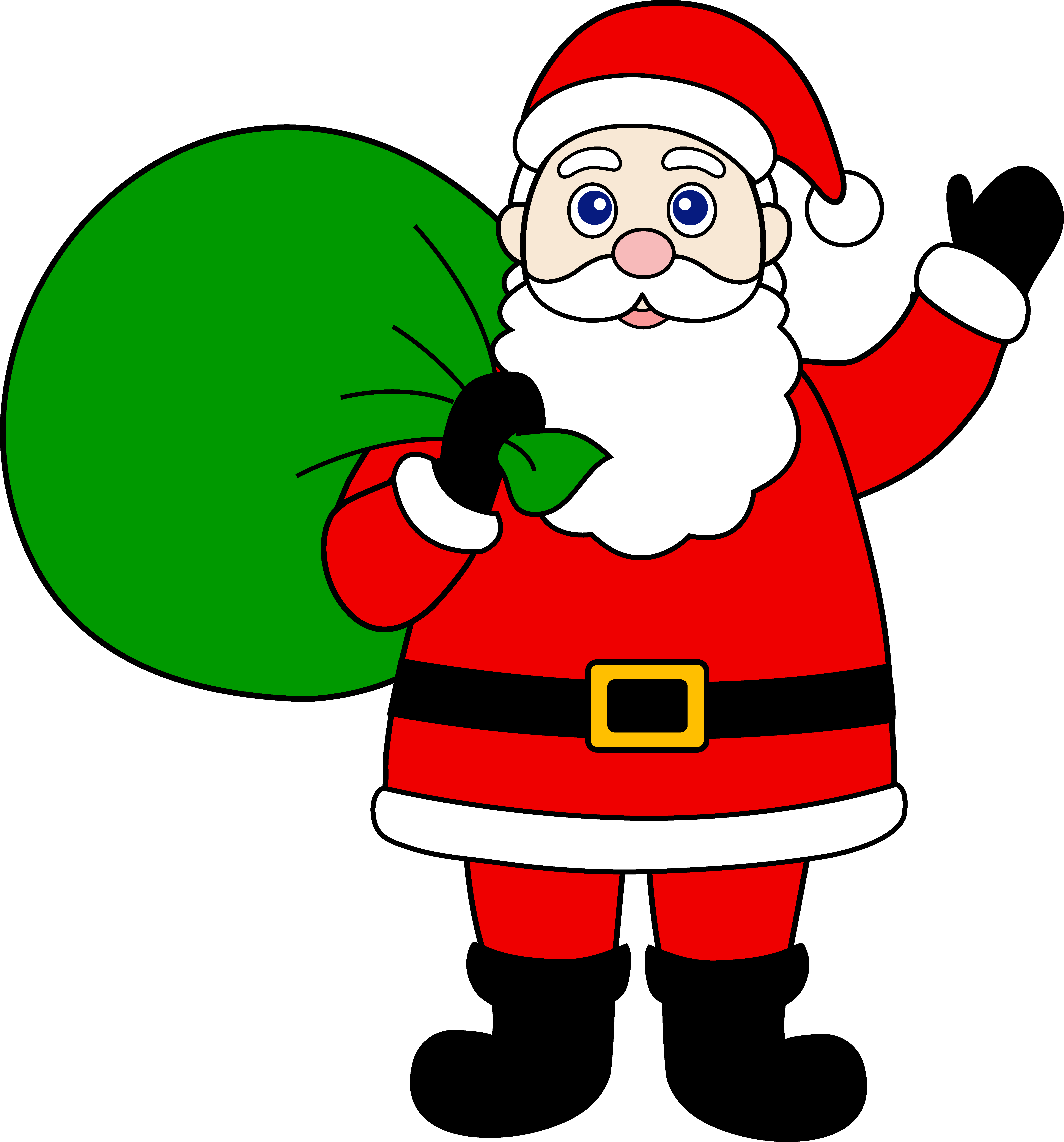 7060x7577 Santa Claus With Sack Of Gifts