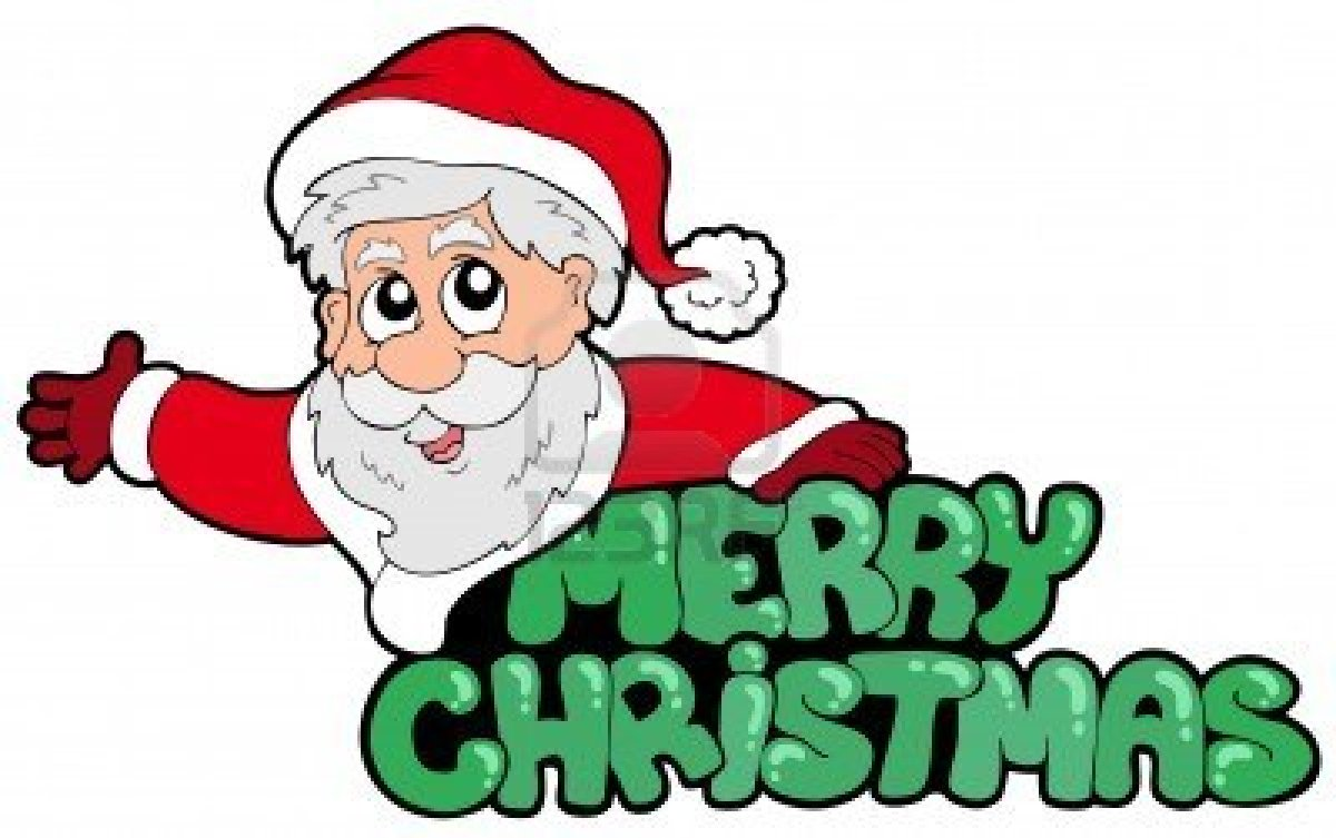 1200x753 Santa Merry Christmas Clip Art