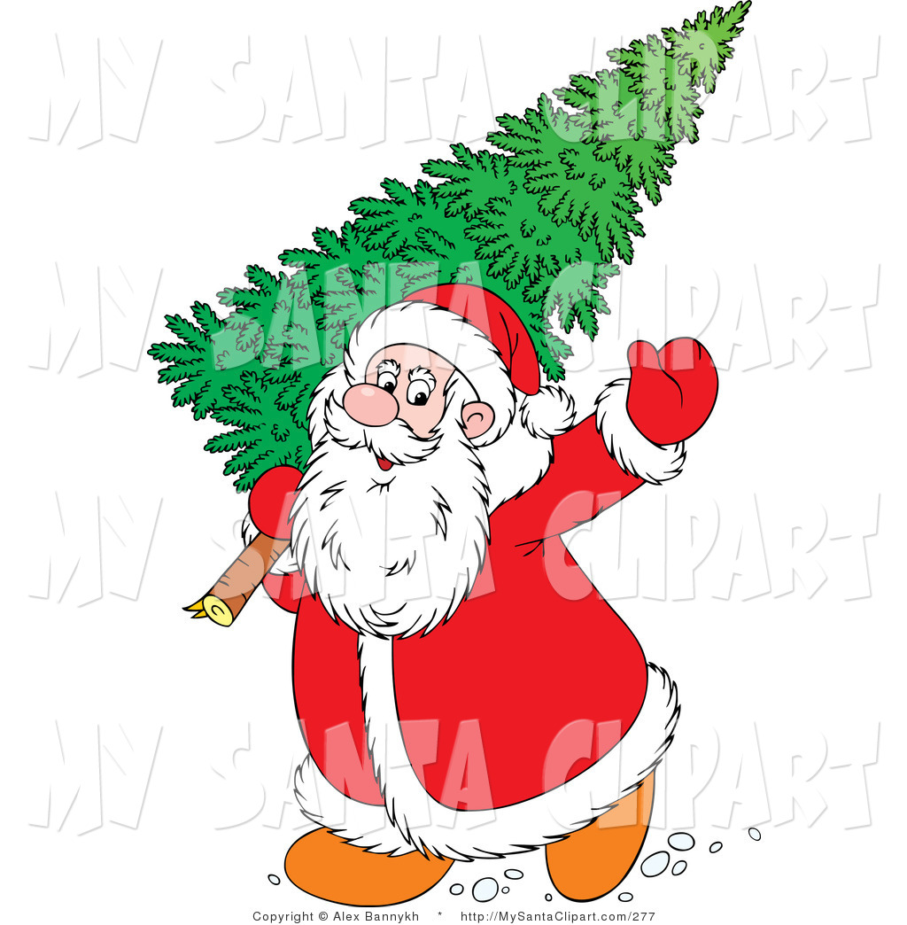 1024x1044 Santa Clipart Christmas Tree
