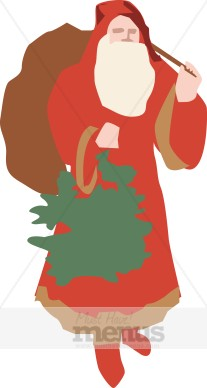 207x388 Traditional Clipart Father Christmas