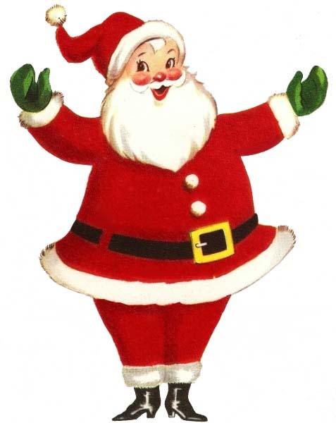 477x600 Vintage Retro Santa Claus Full Size Santa, Vintage Christmas