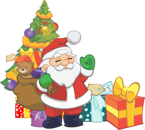 500x448 980 Free Christmas Clip Art Santa Reindeer Public Domain Vectors
