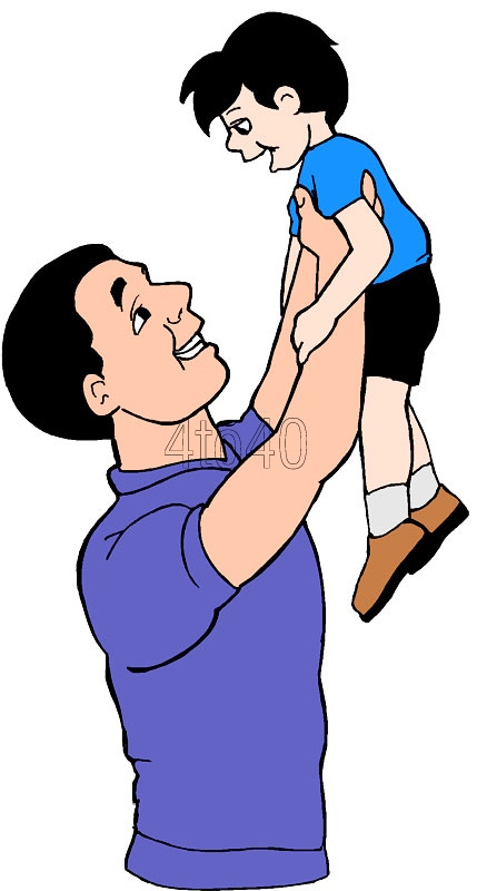 429x800 Father and Son clip art