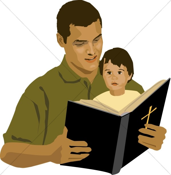 599x612 Father and son clipart