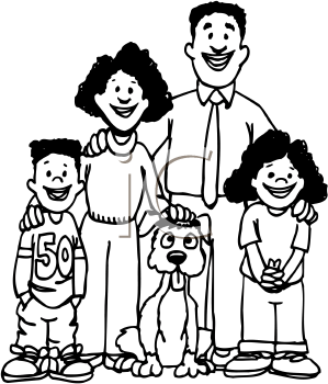 299x350 Indian Family Clipart Black And White