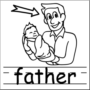 304x304 Clip Art Basic Words Father Bampw (Poster) I Abcteach