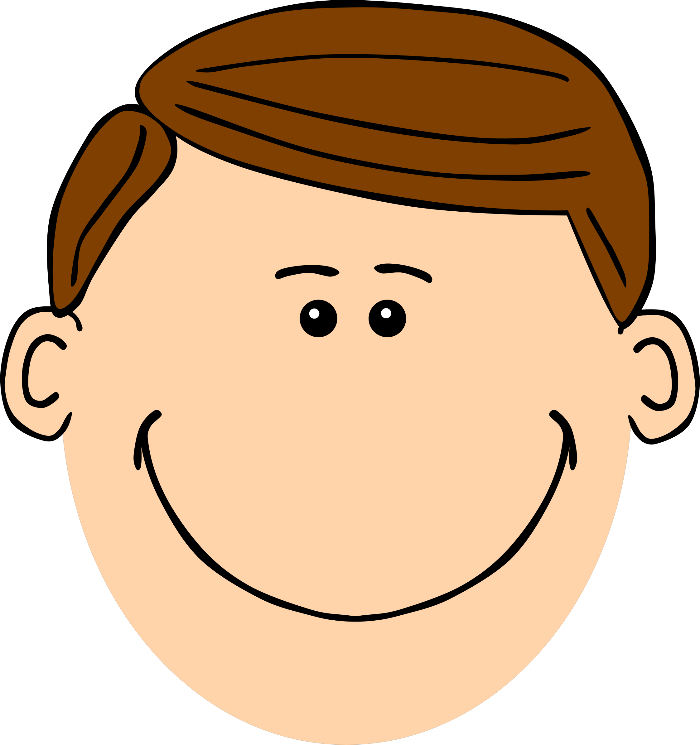 2245x2390 Face Clipart Father Face
