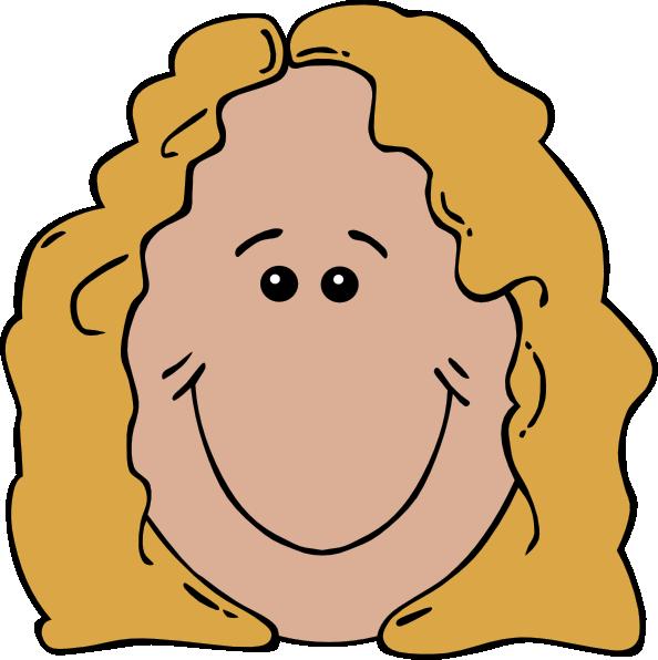 594x596 Lady Face Clip Art