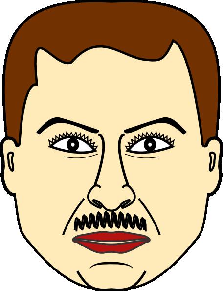 456x595 Man Face Clip Art