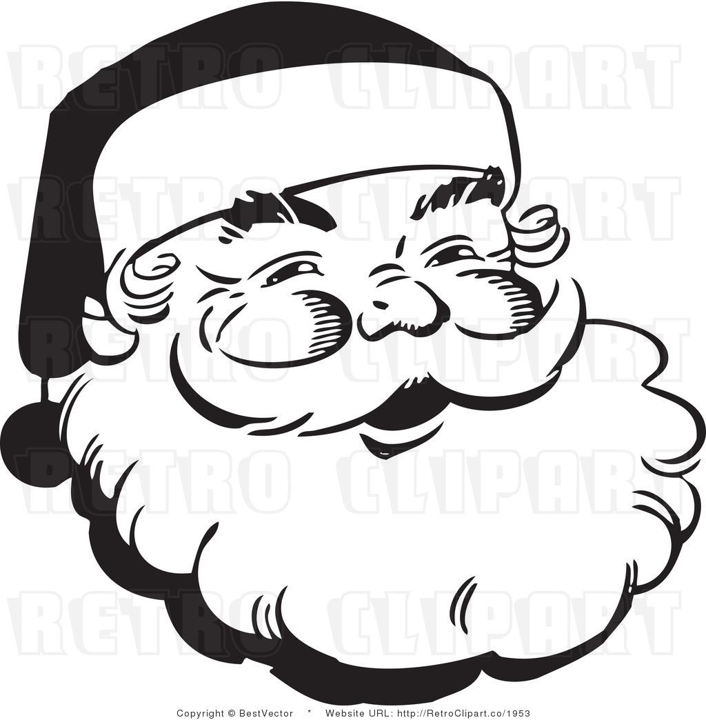 1024x1044 Vintage Santa Face Clip Art
