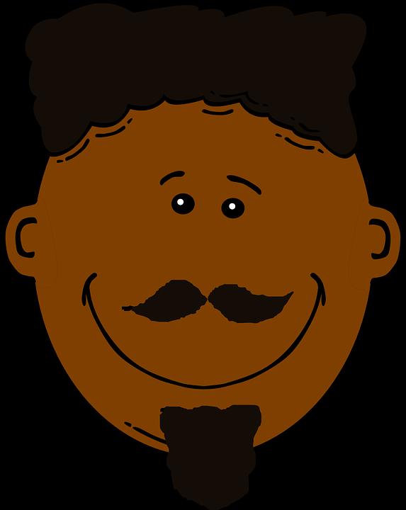 573x720 clipart man face brown hari