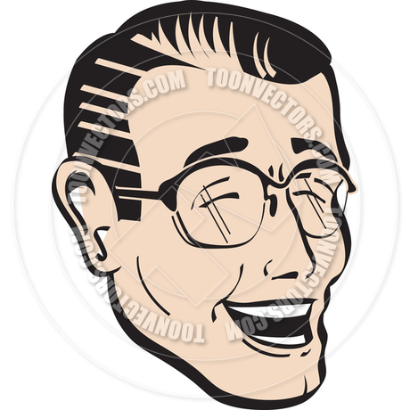 460x460 Cartoon Laughing Dad Vector Illustration By Clip Art Guy Toon