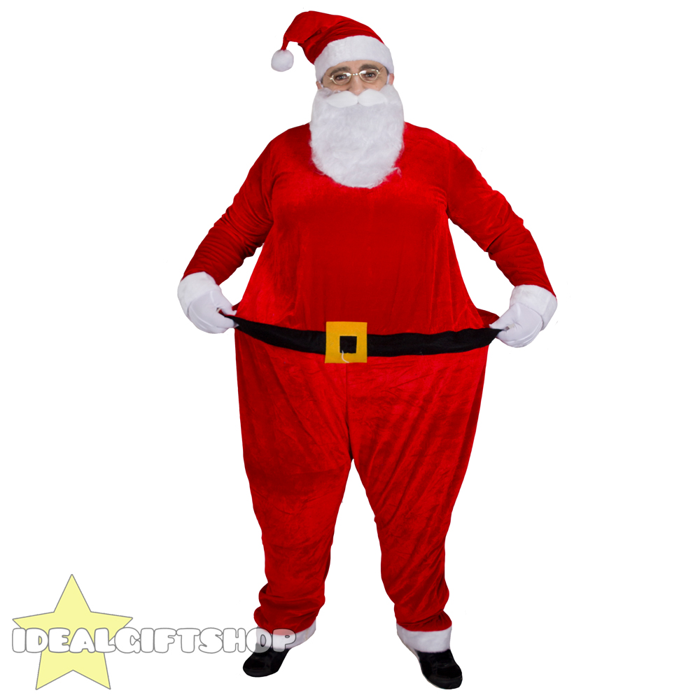 1000x1000 FAT SANTA SUIT FATHER CHRISTMAS FANCY DRESS XMAS CLAUS COSTUME