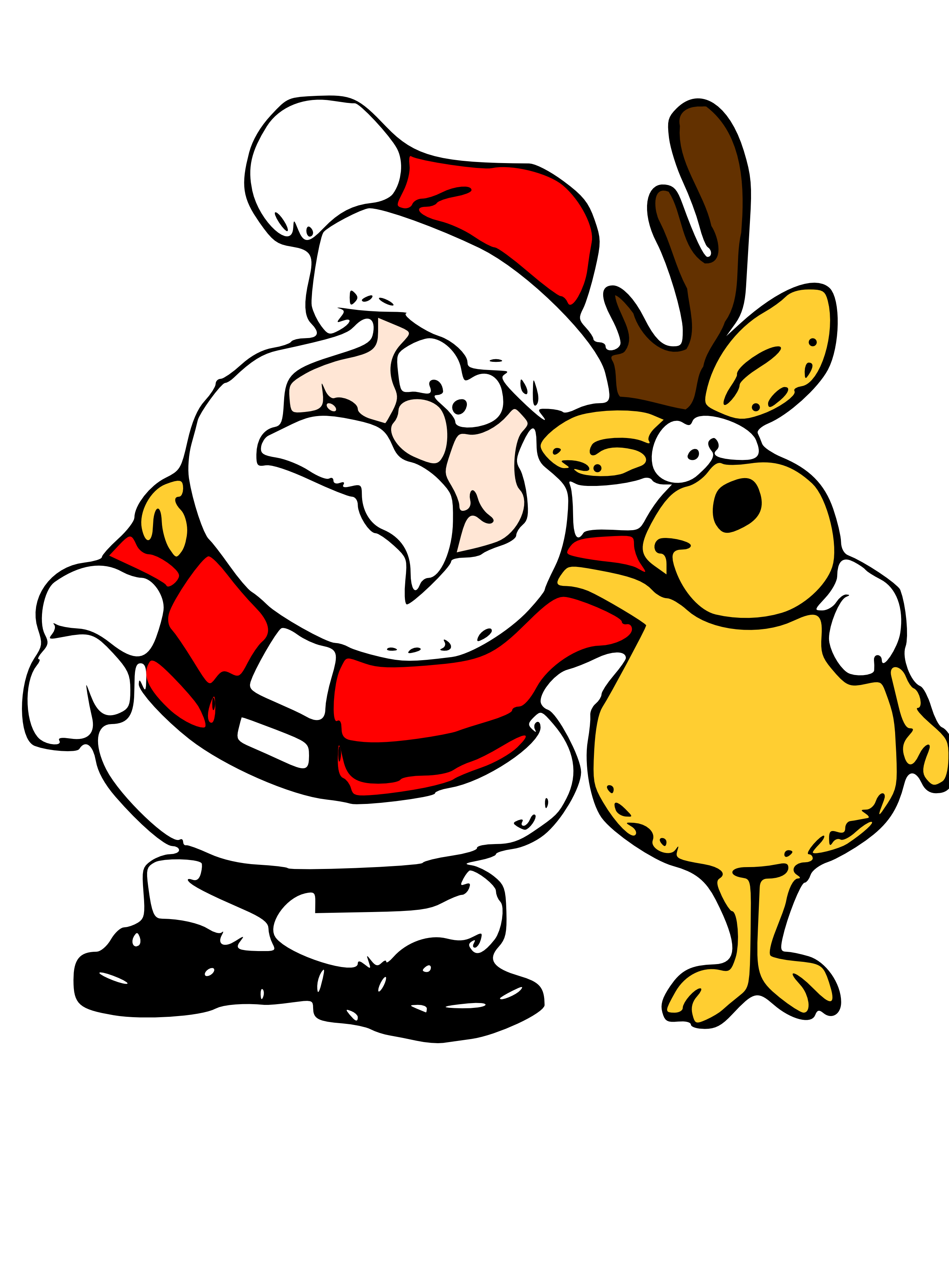2555x3467 Father Christmas Clipart
