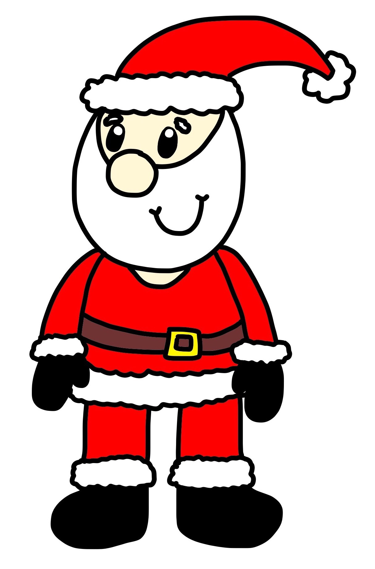 1214x1842 How to Draw a Cartoon Father Christmas and COMPETITION Hannah