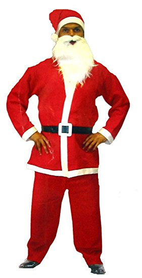281x550 Santa Claus Father Christmas Complete Adults Costume Fancy Dress
