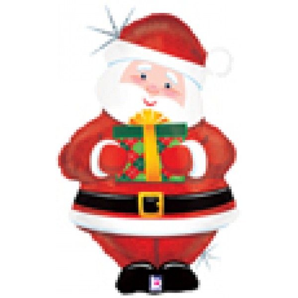 600x600 30 Inch Foil Father Xmas Shape