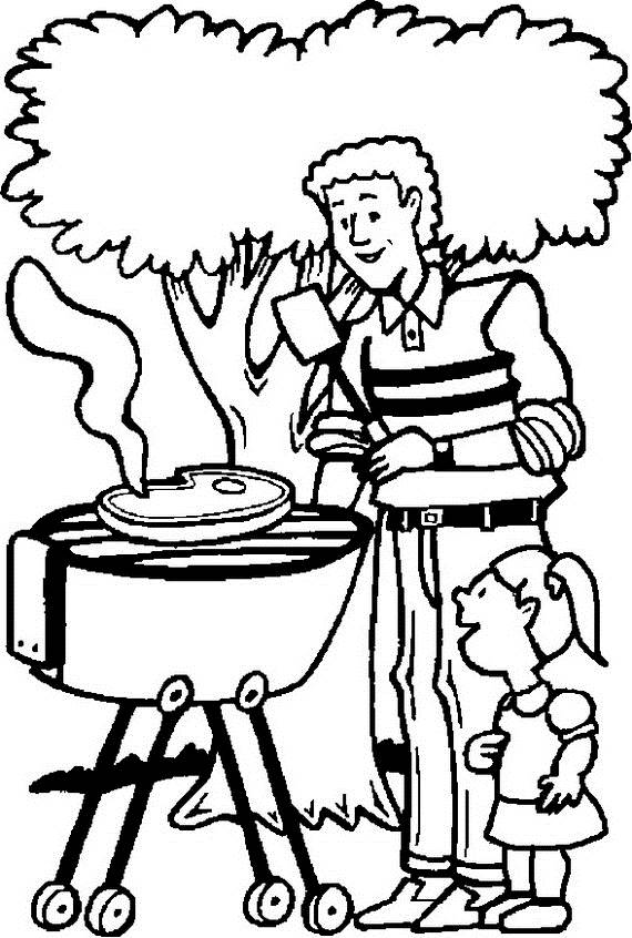 570x846 Happy Fathers Day Coloring Pages For The Holiday
