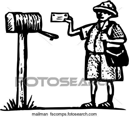 450x406 Clipart of Mailman mailman