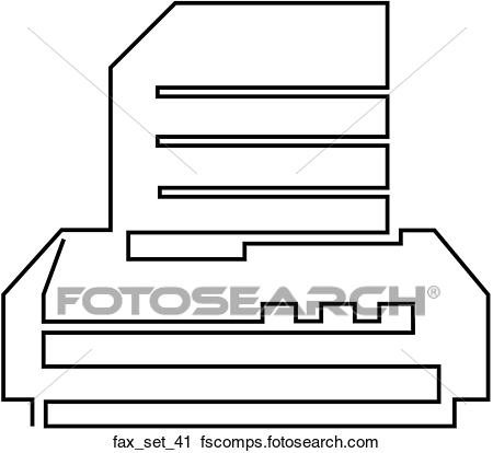 450x414 Clipart of Web Page Fax SymbolIcon fax set 41