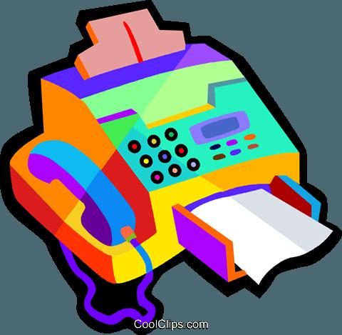 480x469 Fax machine Royalty Free Vector Clip Art illustration vc018473