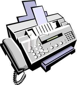 273x300 Gray Fax Machine Clipart Picture