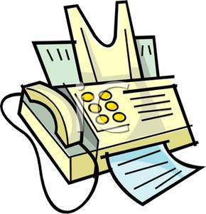 290x300 Yellow Fax Machine Clip Art Image