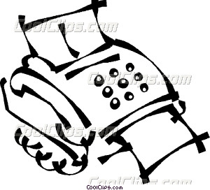 300x272 fax machine Vector Clip art