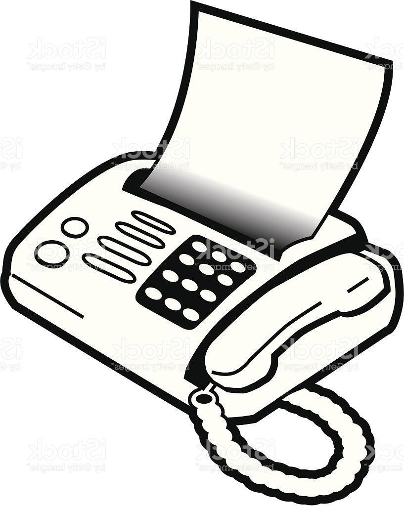 817x1024 Best Free Fax Machine Vector Image
