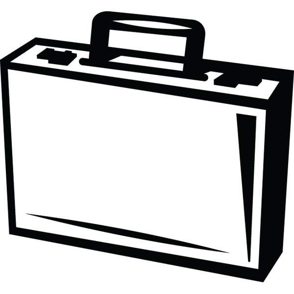 600x600 Briefcase Clip Art For Business amp Office Custom Products