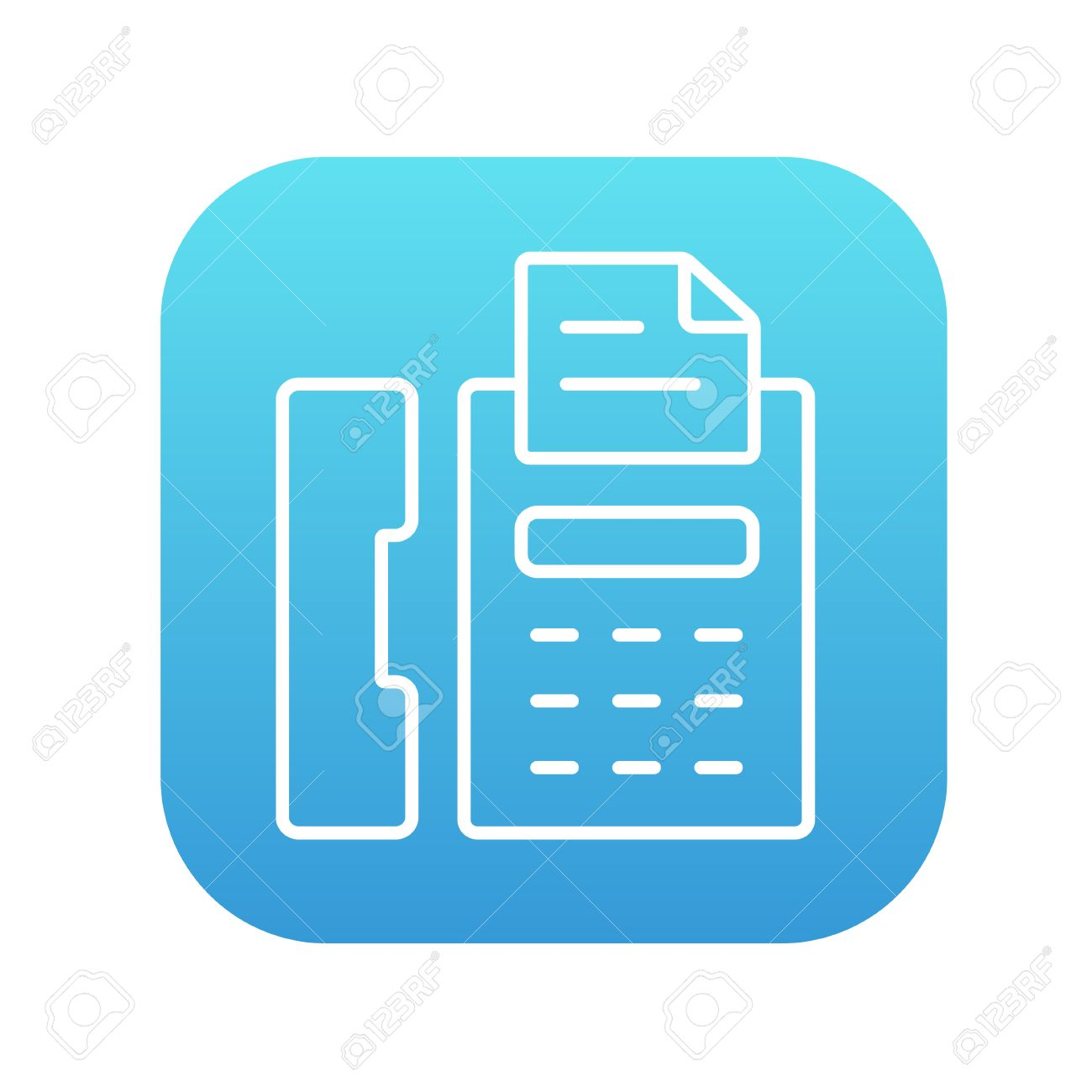 1300x1300 Fax Machine Line Icon For Web, Mobile And Infographics. Vector