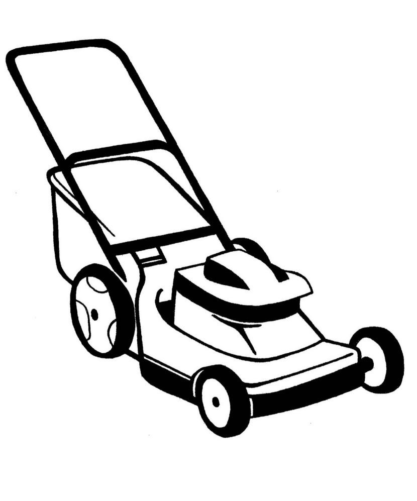 830x997 Machine Clipart Lawn