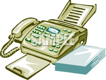 350x266 Royalty Free Clip Art Image Multi Line Telephone And Fax Machine