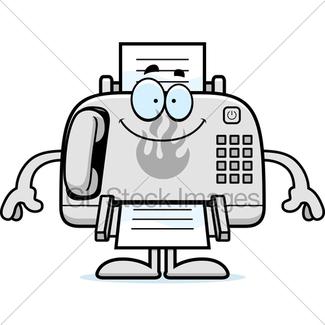325x325 Cartoon Fax Machine Sign Gl Stock Images