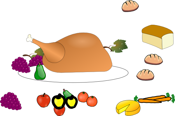 600x398 Feast Clipart Thanksgiving Plate