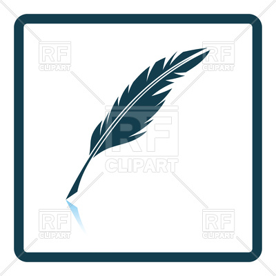 400x400 Writing Feather Icon Royalty Free Vector Clip Art Image