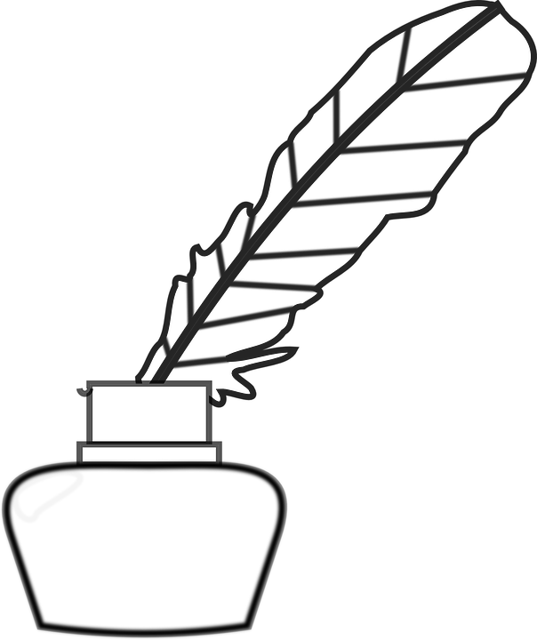 604x720 Quill Clipart Feather Pen